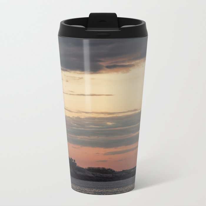 Painted sky over ten pound island light Metal Travel Mug