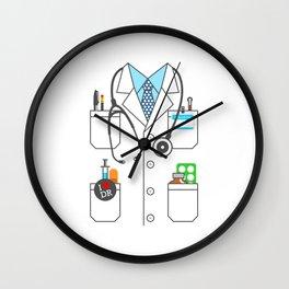 Doctor Costume Lab Coat Cosplay Wall Clock