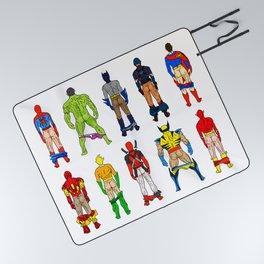 Superhero Butts Picnic Blanket