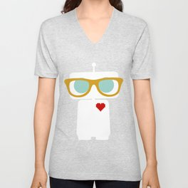 Quirky Robots Unisex V-Neck