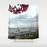 vietnam Shower Curtains featuring Nha Trang, Vietnam by Svetlana Korneliuk
