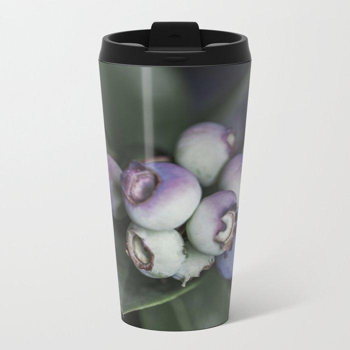 Blueberries ripening Metal Travel Mug