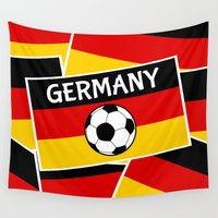 german Wall Tapestries featuring German Flag Football by mailboxdisco