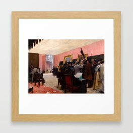 Henri Gervex - Une Séance du Jury de Peinture au Salon des Artistes Français ca. 1883 Framed Art Print