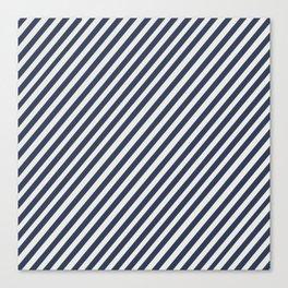 Navy Striped Canvas Print