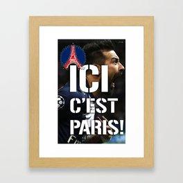 Ici c'est Paris! colors urban fashion culture Jacob's 1968 Paris Agency for Lavezzi psg supporters Framed Art Print