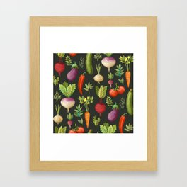 Garden Veggies Framed Art Print