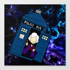 Tardis in space Doctor Who 3 Canvas Print