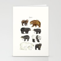 bears Stationery Cards featuring Bears by Amy Hamilton