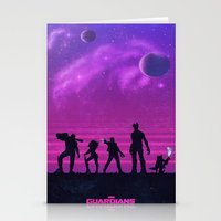 guardians of the galaxy Stationery Cards featuring The Guardians of the Galaxy by Noble-6