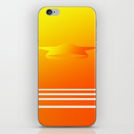 Star Flight Space Carrier - Red Orange Yellow iPhone Skin