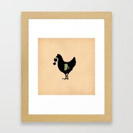 Rhode Island - State Papercut Print Framed Art Print