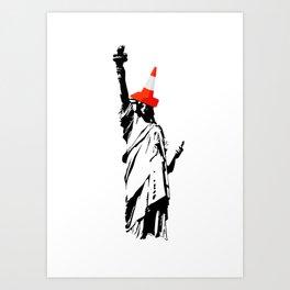 Lady Liberty Art Print