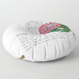 King Protea Floor Pillow