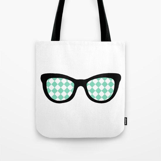 Mint Diamond Eyes Tote Bag