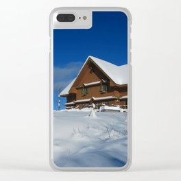Winter House Clear iPhone Case