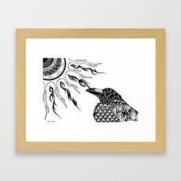 The Raven's Sun Framed Art Print
