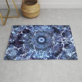 Iris Mandala Blue Rug