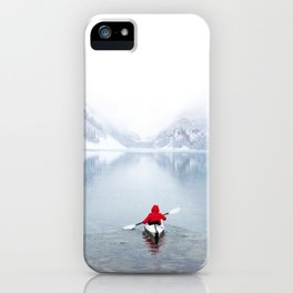 Kayaking Across A Canadian Lake iPhone Case