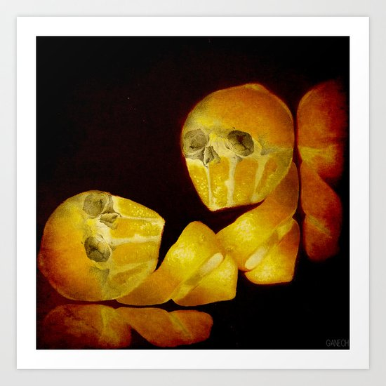 Lemon Bone Art Print