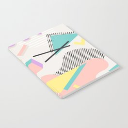 80s / 90s RETRO ABSTRACT PASTEL SHAPE PATTERN Notebook