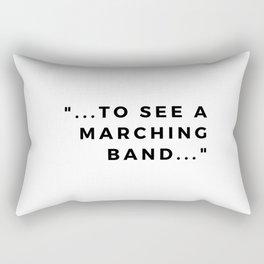 a marching band Rectangular Pillow
