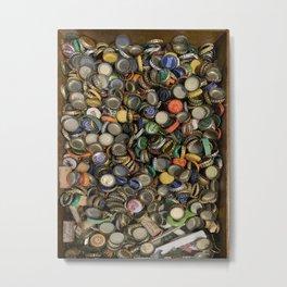 Bottlecap Collage Metal Print