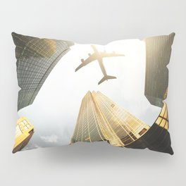 airplane in nyc Pillow Sham