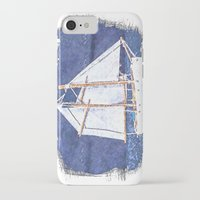 sailboat iPhone & iPod Cases featuring Sailboat by Michael P. Moriarty