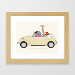 road trip huit Framed Art Print