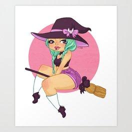 Mint Witch Art Print