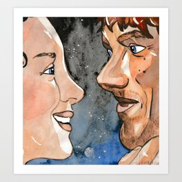 Claire and Jamie re-united Art Print