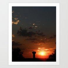 Texas Sunsets Art Print