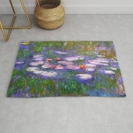 Claude Monet, Waterlilies, oil on canvas. Rug