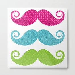 Mustache colors Metal Print
