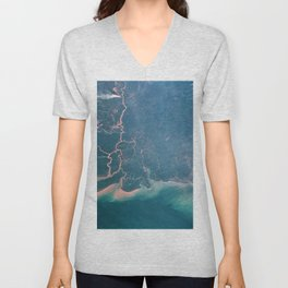 Earth observations taken from Space Shuttle Columbia during STS-93 mission Unisex V-Neck