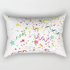 Wishes as Confetti / New Years Confetti. Rectangular Pillow