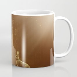 Rabbit in the Sunlit Forest Coffee Mug