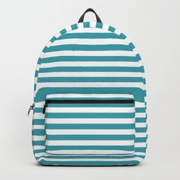 Striped Turquoise Backpack