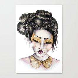 Golden Eyes // Fashion Illustration Canvas Print