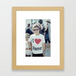 I ♡ Mama Framed Art Print