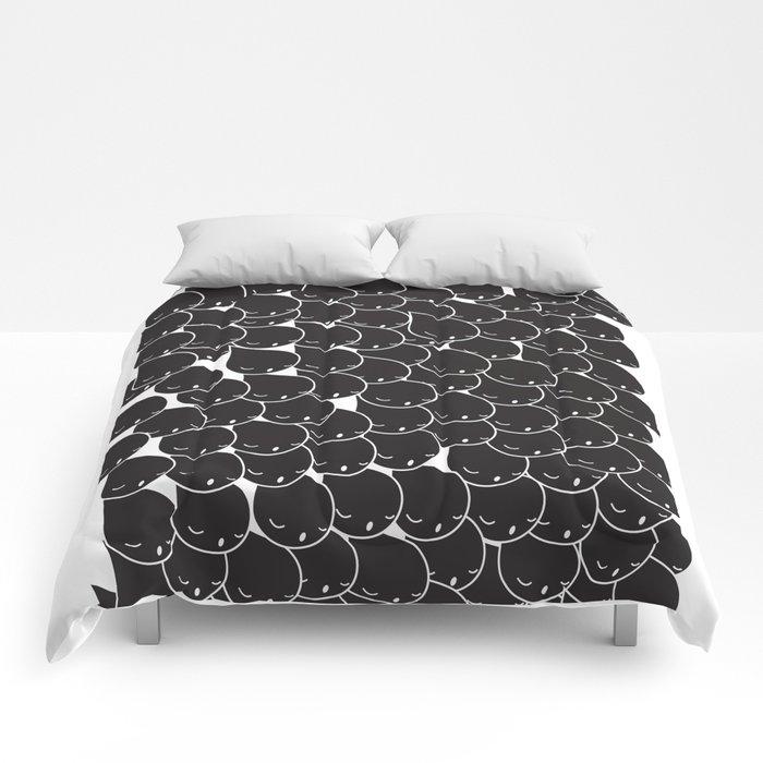 FOLLOW ME  FOLLOW YOU - BLK Comforters