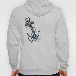 Blue anchor with stars Hoody