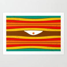Eye Wave Art Print