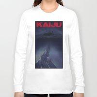 kaiju Long Sleeve T-shirts featuring kaiju by tama-durden