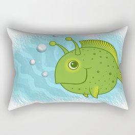 Alien Fish Rectangular Pillow