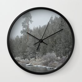 Old Ponderosa On The Deschutes River Wall Clock