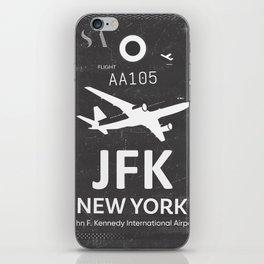 JFK Airport code New York USA iPhone Skin