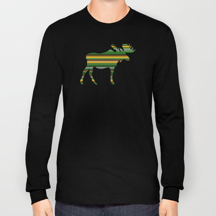 Moose - Forest Colors Long Sleeve T-shirt