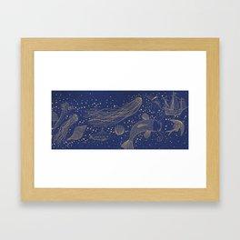 Ocean Meets Sky Hard Case Framed Art Print
